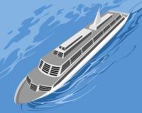 Cruise ship on sea Royalty Free Stock Photography