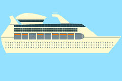 Cruise ship in sea. Vector for your ideas Royalty Free Stock Images