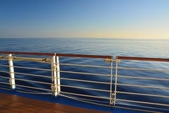 Cruise ship sea view Stock Images