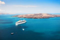 Cruise ship at the sea Stock Images