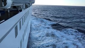 Cruise Ship at Sea stock video footage