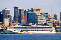 Cruise Ship in Seattle Washington Stock Images