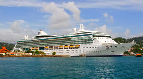 Cruise Ship Serenade Of The Seas In St. Lucia Royalty Free Stock Photography