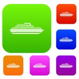 Cruise ship set collection Royalty Free Stock Images