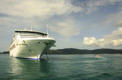 CRUISE SHIP AND SHIP TENDER Stock Image