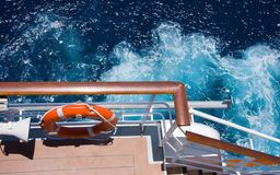Cruise ship side Stock Images