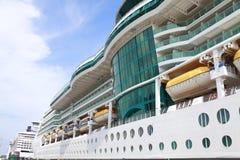 Cruise ship side closeup stock image