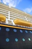 Cruise ship. Side of a luxurious and big cruise ship Royalty Free Stock Photo