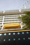 Cruise ship. Side of a luxurious and big cruise ship Stock Images
