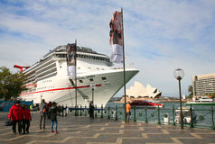 Cruise ship in Sidney Royalty Free Stock Photo