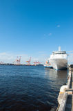 Cruise ship Silver Whisper at Port of Fremantle Royalty Free Stock Photography