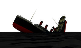 Cruise ship sinking Stock Image