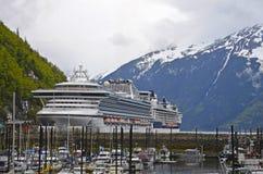Skagway, cruise ship Stock Image