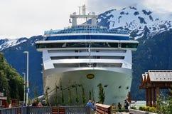 Cruise ship, Skagway, Yukon, Alaska Stock Photos