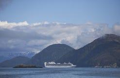 Cruise ship in Southeast Alaska Royalty Free Stock Image
