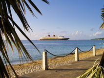 Cruise ship in St. Croix. A cruise ship in the water near St. Croix Royalty Free Stock Image