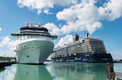Cruise Ship in St John's Antigua Stock Image