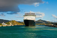Cruise Ship in St. Thomas Stock Photo