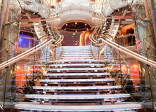 Cruise ship staircase. Staircase on board a luxury cruise ship Royalty Free Stock Images