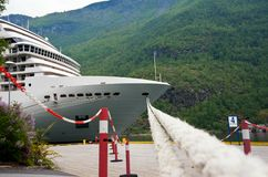 Cruise ship standing at the berth Stock Images