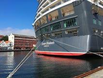 Cruise ship in Stavanger. Stock Photos