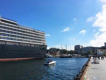 Cruise ship in Stavanger. Stock Photo
