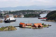 Cruise ship in Stavanger Stock Photography