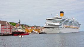 Cruise ship in Stavanger town harbour Royalty Free Stock Image