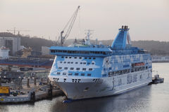 Cruise ship in Stockholm, Sweden Royalty Free Stock Photography