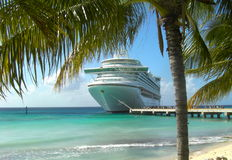 Cruise Ship in the sun Royalty Free Stock Photo