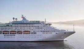 Cruise ship Sun Princess entering Port Chalmers. Cruise ship Sun Princess entering Port Chambers in early morning light.  Dunedin, New Zealand Stock Photo