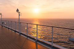 Cruise ship sunrise Royalty Free Stock Photo