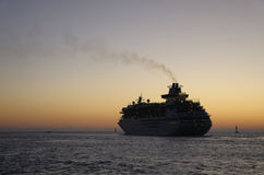 Cruise Ship at Sunset. Stock Photography