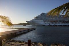 Cruise Ship Sunset Stock Images