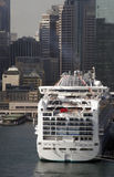 Cruise Ship In Sydney. Large Cruise Ship At Circular Quay In Sydney Harbour, Australia Stock Photography