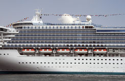 Cruise Ship In Sydney. Large Cruise Ship At Circular Quay In Sydney Harbour, Australia Stock Photo