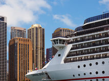 Cruise Ship, Sydney City, Ausralia Stock Photo