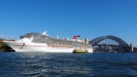Cruise Ship in Sydney harbour, Australia Royalty Free Stock Photography