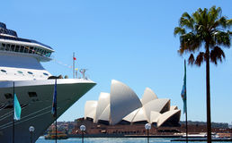 Cruise ship in Sydney Harbour, Australia Stock Photos