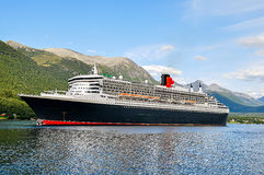 Cruise Ship with Tenders Royalty Free Stock Photo