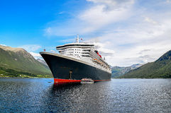Cruise Ship with Tenders Stock Photos