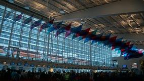 Cruise ship terminal in Miami, Florida. USA stock image