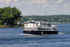 Cruise ship in Thousand Islands, Ontario Stock Photography