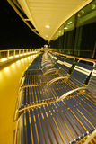 Cruise ship top deck. At night Stock Photo