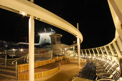 Cruise ship top deck Stock Photos