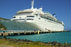 Cruise ship in Tortola,  Caribbean Royalty Free Stock Image