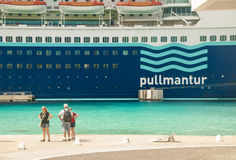 Cruise ship tourists Royalty Free Stock Photo
