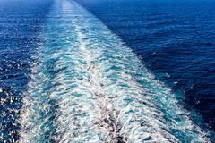 Cruise ship trace Royalty Free Stock Image