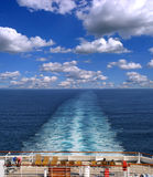 Cruise ship track Stock Photos