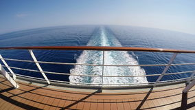 Cruise ship track on the sea stock video footage